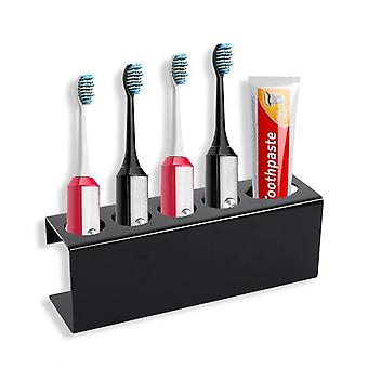 4 Holes Toothpaste Hooks Tooth Brush Holder Wall Mounted Stand Rack|Toothbrush Holders