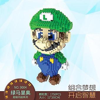 jest kompatybilny z mini cząstki Mario bloku gry modelowania dinozaurów| Bloki układania (zielony)