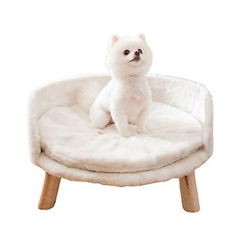 Autumn soft rabbit fur dog bed