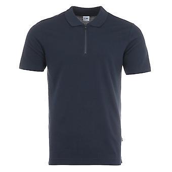 NN07 Polo Zip Sustainable Tencel Blend Polo Shirt - Blue