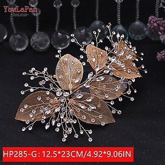 Youlapan Hp240 Prata Diamantes Nudal Coroa Noiva Noiva Acessórios de Cabelo Noiva