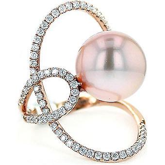 Luna-Pearls - Ring - Pearl Ring Brilliant - Rose Gold - 005.0965 Gr 56 (17.8mm)