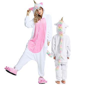 Regenboghorn Gold Horn Pegasus Costume Unicorn Pajama Onesie Kigurumi Jumpsuit