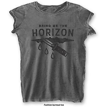 Bring Me The Horizon: Sår med utbränd slutbehandling damer Stor T-shirt- Grå