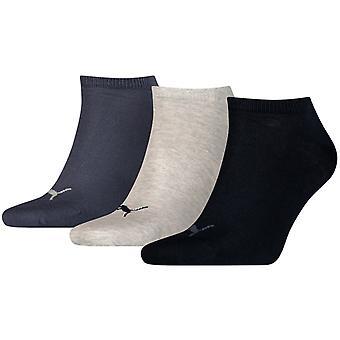 Puma Sneaker Näkymätön Sukat UK Koko 9-11 (3 paria) Navy Mix