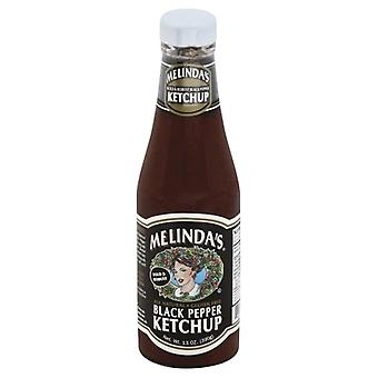 Melindas Ketchup Black Pepper, Boîtier de 12 X 12,3 Oz