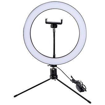 8 Inch Video Photo Ring Light Outer Dimmable Led Lighting Kit W/ Table Stand