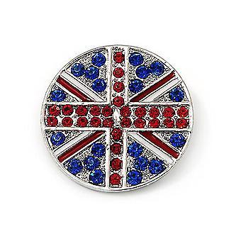 Corsage British Flag Pyöreä Naisten Rintakoru Seos Rintaneula Pin