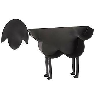 Schapen decoratieve toiletpapier houder vrijstaande badkamer weefsel opslag (zwart)