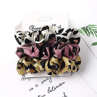 ren farge scrunchies sett elastisk hårbånd
