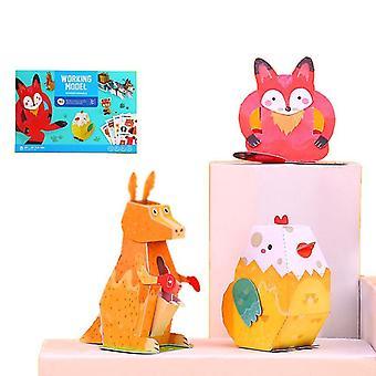 Children's Fun Kézzel készített gyermekek Diy Kézzel készített háromdimenziós Origami játékok (Style3)