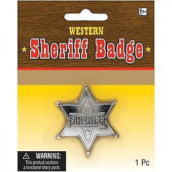 Amscan Sheriff Star Costume Accessory - Silver