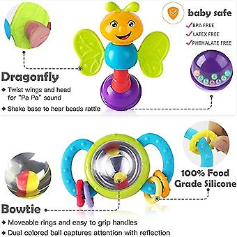Baby Rattle Toys, Infant Shaker,spin Rattles, Musical Toy Set(6PCS)