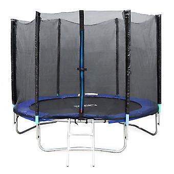 Trampolino 244 cm - con scala e rete - fino a 70 kg