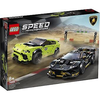 LEGO 76899 Snelheidskampioenen Lamborghini Urus ST-X en Lamborghini Huracan Super Trofeo