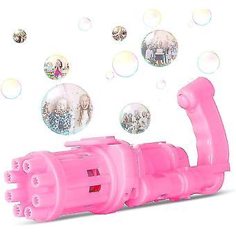 New Gatling Bubble Machine, Electric Porous Bubble Gun Cool Toy, 8 Hole Bubble Maker, Outdoor Toys