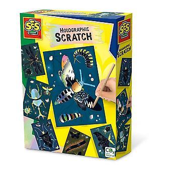 Ensemble d'insectes à gratter holographiques pour enfants