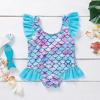 Newborn Baby Shell Print Swimsuit