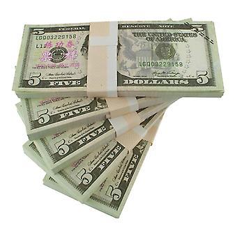 لعب المال - 5 دولار أمريكي (100 ملاحظات)