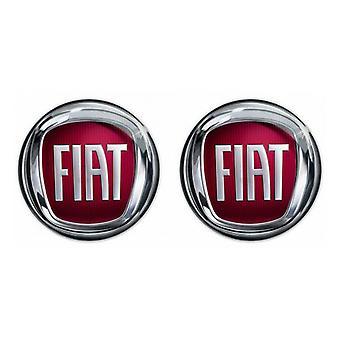 2 x 15mm Fiat Remote Key Fob Badge Emblem Logo Sticker 500 Ducato Doblo Punto