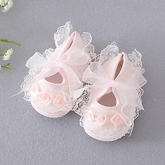 Princess Party Lace Floral Soft Sole Crib Shoes