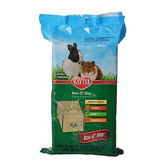 Kaytee Box 'O Hay Variety Pack - Morot, Mynta & Ringblomma - 3.4 oz