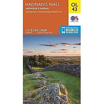 De Muur van Hadrianus: Haltwhistle & Hexham (OS Explorer)