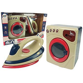 Haushaltsspielzeug Set - Waschmaschine -Bügeleisen - mit Sound