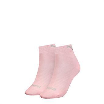 Puma Damen 2er Pack Viertel Socken Sport Casual Everyday Accessoires