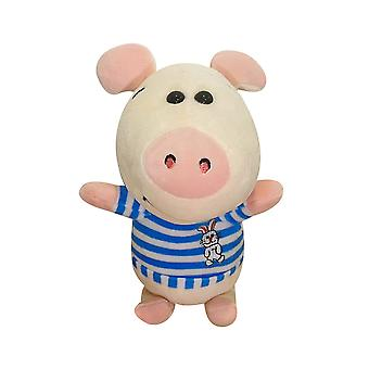 Cartoon Anime Pig, Red And Blue Coat Piggy Plush Toy Doll