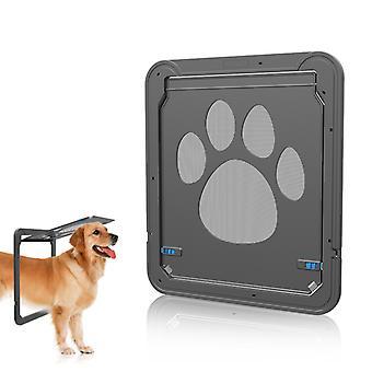 Cat / Dog Cat Flap Large Sliding Dog Door Pet Door Exterior Locking Cat / Dog Doors (37cm W * 42cm H)