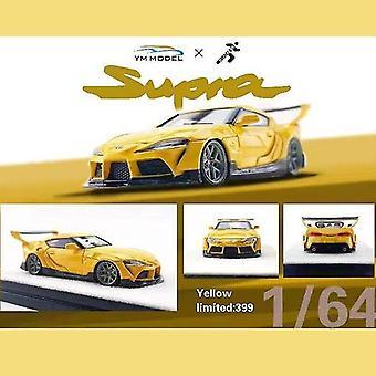 1/32 Model auto Toyota Supra A90 hars die cast collectie display speelgoed (geel)