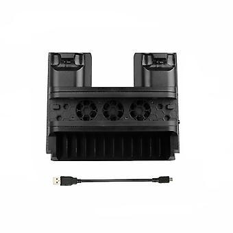 Pour Ps4 Pro / Support vertical mince + Station d'accueil de charge du contrôleur de ventilateur de refroidissement