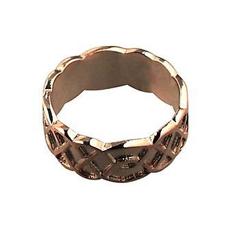 9ct Rose Gold 8mm Celtic Wedding Ring Size Q