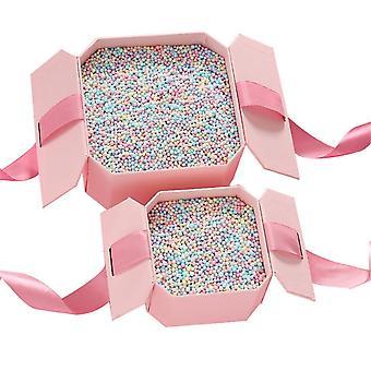 Regnbågsfärgade små bollar, presentförpackningsfyllmedel skumpärlor
