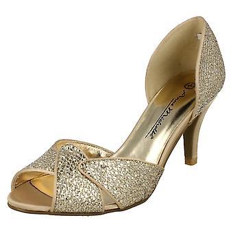 Ladies Anne Michelle Slip On Heeled Shoes
