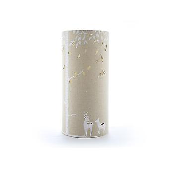 Light-Glow Fabric Table Lamp Deers