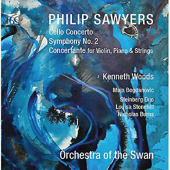 Sawyers / Orchestra of the Swan / Woods - Cello Concerto / Symphony No. 2 [CD] USA import