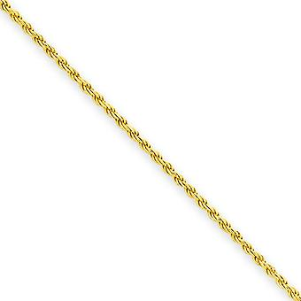 14k Gold Plated Polished Sparkle Cut Lobster Claw Closure SS 1.75mm Diam Cut Rope Chain Necklace Jewelry Gifts for Women