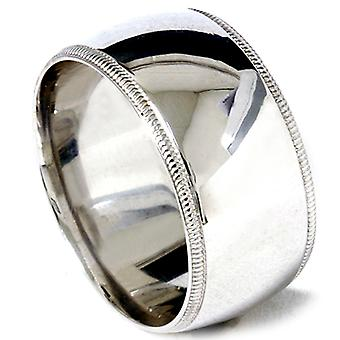 12mm Heavy Comfort Fit Plain Polished Mens Wedding Ring