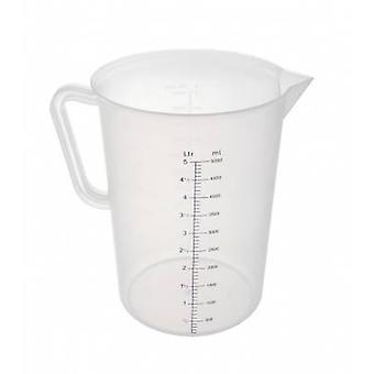 Polypropylen mät tillbringare 5 liter klar