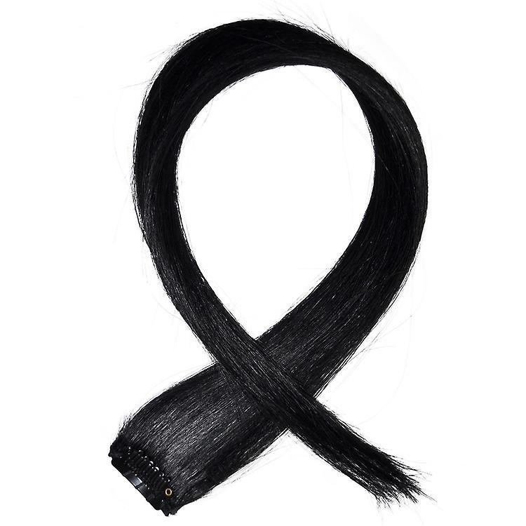 #1 jet Black - stries pince dans les cheveux