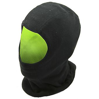 FLOSO Mens Reversible Fleece Thermal Balaclava (Black Front & Neon Back)