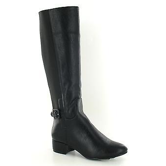 Flekk på kvinners/damer lav knehøye hæl støvler
