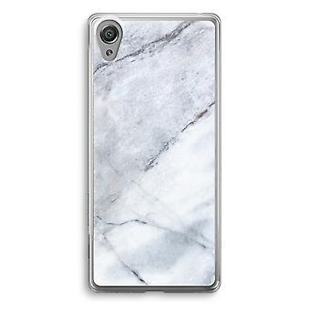 Sony Xperia XA1 przezroczyste etui (Soft) - marmur biały
