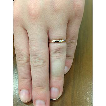 1 / 30ct Versprechen Diamant Solitär Lünette Ring 14K Rose Gold