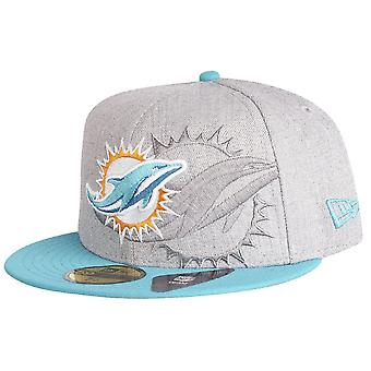 Nieuwe era 59Fifty Cap - SCREENING NFL Miami Dolphins grijs
