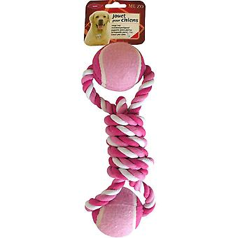 Agrobiothers Mega Rope Toy Double Tennis Ball Pm (Dogs , Toys & Sport , Ropes)