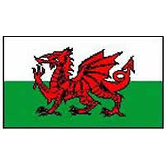 Wales/Welsh vlag 5 ft x 3 ft (100% Polyester) met oogjes voor verkeerd-om