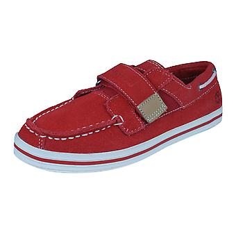Timberland Casco Bay HL Kids Boat / Deck Shoes - Red
